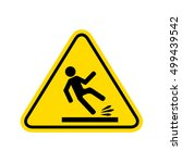 caution wet floor sign.vector | Shutterstock .eps vector #499439542