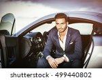 portrait of young attractiave... | Shutterstock . vector #499440802
