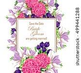 vintage delicate invitation... | Shutterstock .eps vector #499441288