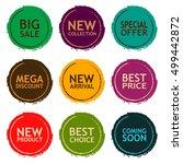 sale discount sticker set.... | Shutterstock .eps vector #499442872