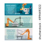 horizontal banners set with... | Shutterstock .eps vector #499449322