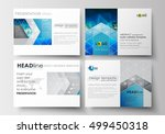 set of business templates for... | Shutterstock .eps vector #499450318