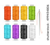 thread spool set. equipment for ... | Shutterstock .eps vector #499454806