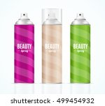 aluminium colorful beauty spray ... | Shutterstock .eps vector #499454932