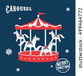 vintage carnival   fun fair... | Shutterstock .eps vector #499464772
