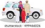 family and social concept. arab ... | Shutterstock .eps vector #499466026
