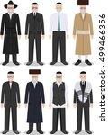 set of different standing... | Shutterstock .eps vector #499466356