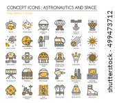 astronautics and space   thin... | Shutterstock .eps vector #499473712