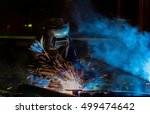 worker is welding assembly car... | Shutterstock . vector #499474642