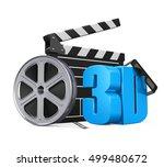 movie cinema concept. 3d... | Shutterstock . vector #499480672