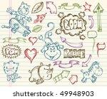 mega big sketch doodle vector... | Shutterstock .eps vector #49948903