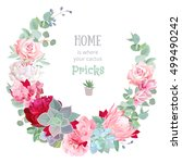 stylish floral vector design... | Shutterstock .eps vector #499490242
