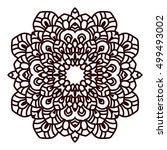 bohemian indian mandala print.... | Shutterstock .eps vector #499493002