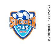 soccer badge logo | Shutterstock .eps vector #499493428