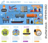 oil industry infographics with... | Shutterstock .eps vector #499494382