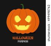 Orange Pumpkin Carved Phantom...