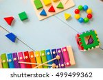 baby toys. baby toys background | Shutterstock . vector #499499362