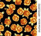 rose flower pattern  | Shutterstock .eps vector #499513552