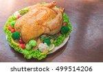 roasted turkey stuffing... | Shutterstock . vector #499514206