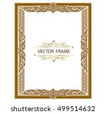 gold photo frames with corner... | Shutterstock .eps vector #499514632