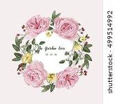 romantic floral bouquet .... | Shutterstock .eps vector #499514992