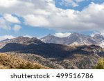 beautiful mountains of tien... | Shutterstock . vector #499516786