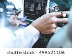 medical technology network team ... | Shutterstock . vector #499521106