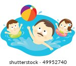 healthy family lifestyle | Shutterstock .eps vector #49952740