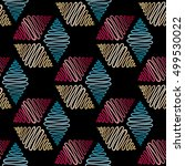 abstract hand drawn pattern.... | Shutterstock .eps vector #499530022