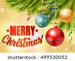 merry christmas lettering... | Shutterstock .eps vector #499530052
