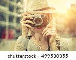 woman photographer. young... | Shutterstock . vector #499530355