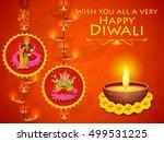 illustration of goddess lakshmi ...   Shutterstock .eps vector #499531225