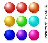 set of multicolored spheres... | Shutterstock .eps vector #499531852
