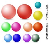 colors sphere on white... | Shutterstock .eps vector #499532236
