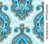 indian ethnic seamless pattern... | Shutterstock .eps vector #499536496