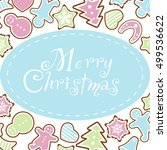 greeting card merry christmas... | Shutterstock .eps vector #499536622