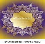 abstract ornate element for... | Shutterstock .eps vector #499537582