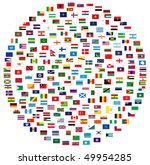 collection of world flags on... | Shutterstock . vector #49954285