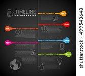 infographic timeline report... | Shutterstock .eps vector #499543648