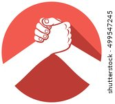 handshake symbol flat icon | Shutterstock .eps vector #499547245