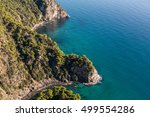 aerial view of the blue water... | Shutterstock . vector #499554286