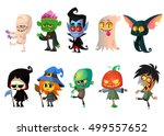 set of halloween characters.... | Shutterstock .eps vector #499557652