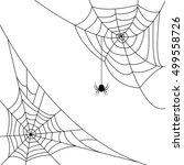 halloween monochrome web with... | Shutterstock .eps vector #499558726