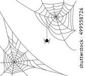 halloween monochrome web with... | Shutterstock .eps vector #499558726