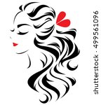 illustration of women long hair ... | Shutterstock .eps vector #499561096
