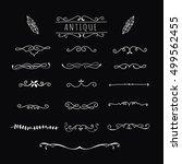 hand drawn vintage divider | Shutterstock .eps vector #499562455