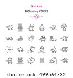 line icon set of food delivery... | Shutterstock .eps vector #499564732