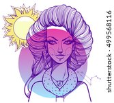 portrait of the girl symbolizes ... | Shutterstock .eps vector #499568116