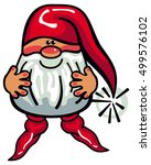 one cute gnome with beard and... | Shutterstock . vector #499576102