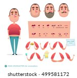 man character for your scenes... | Shutterstock .eps vector #499581172